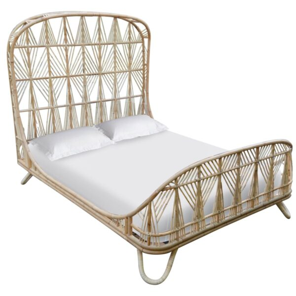 Ara Rattan Queen Bed – Natural