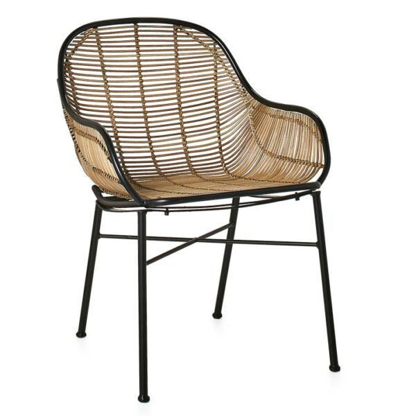Tiga Rattan Lounge Chair – Natural : Black