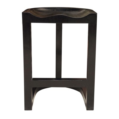 Saddle Counter Stool Hand Rubbed Black L2 Interiors