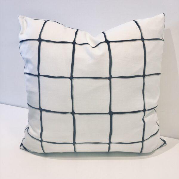 Painted Check Toss Cushion