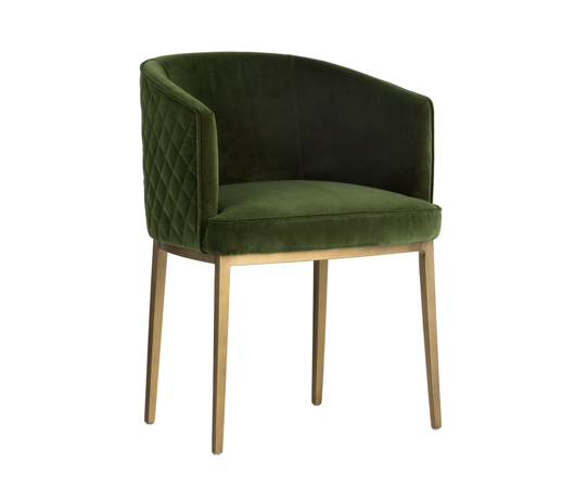 Cornella Dining Chair Forest Green