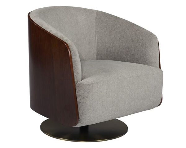 Arnelle Swivel Lounge Chair – Stone